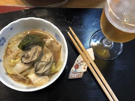 1052019 夕食 牡蛎鍋 S1