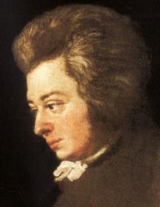 ヨーゼフ・ランゲ作 鍵盤に手を置くモーツァルト(首より下未完成[15])妻・コンスタンツェいわく「モーツァルトに最もよく似た肖像画