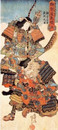 武内宿禰と神功皇后(歌川国貞画