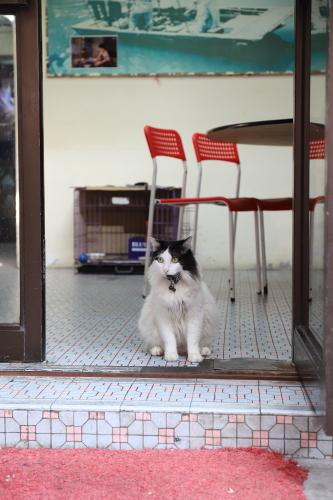 食堂の入口