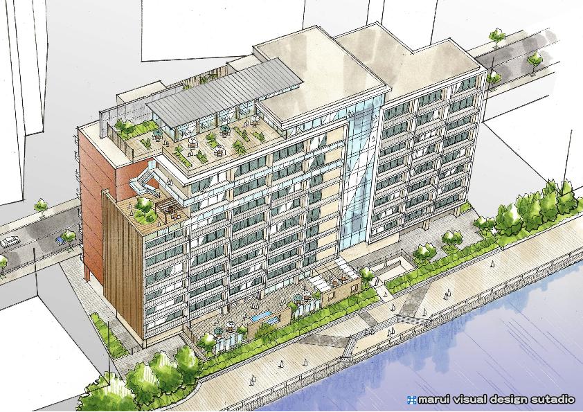 Mシニア住宅計画・鳥瞰イメージパース