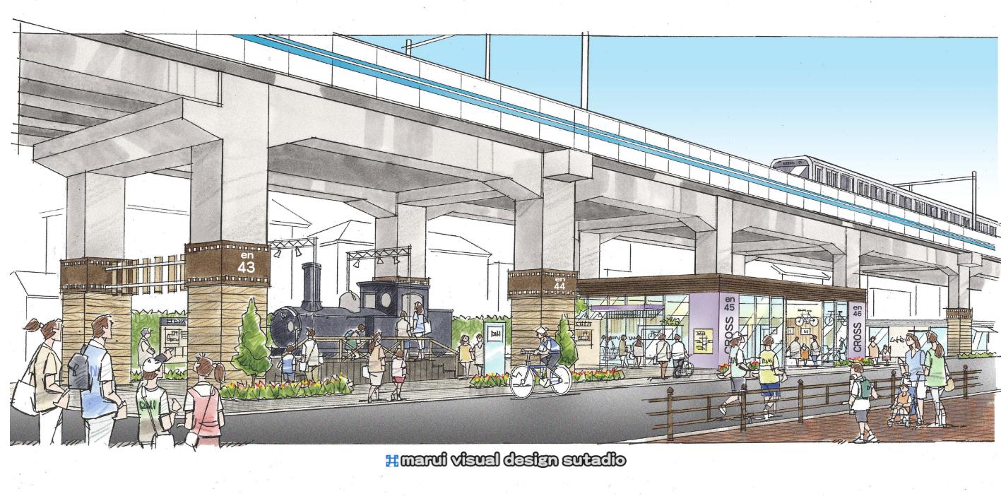 S鉄道高架下計画・イメージパース2