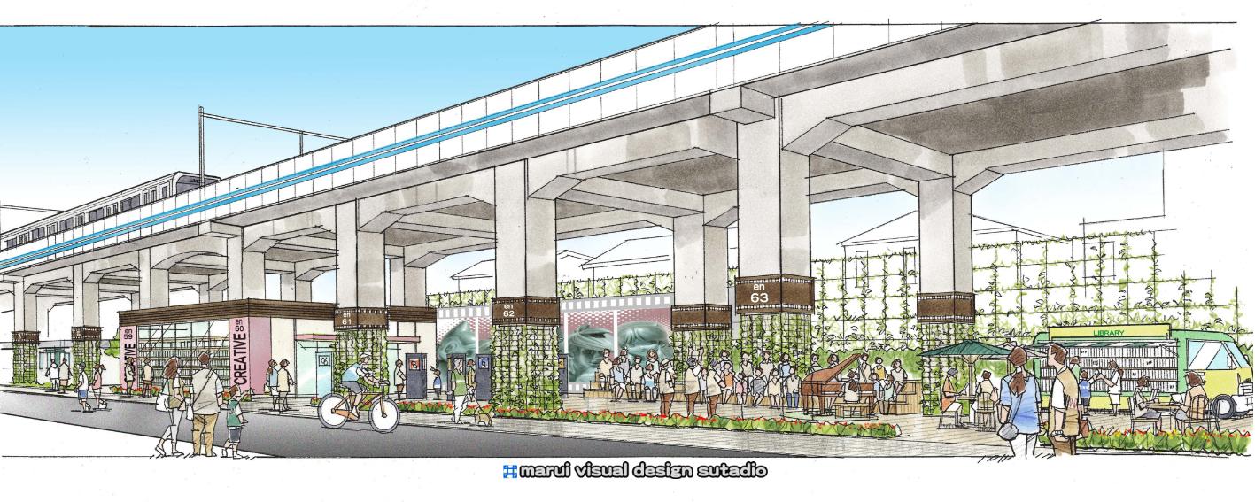 S鉄道高架下計画・イメージパース3