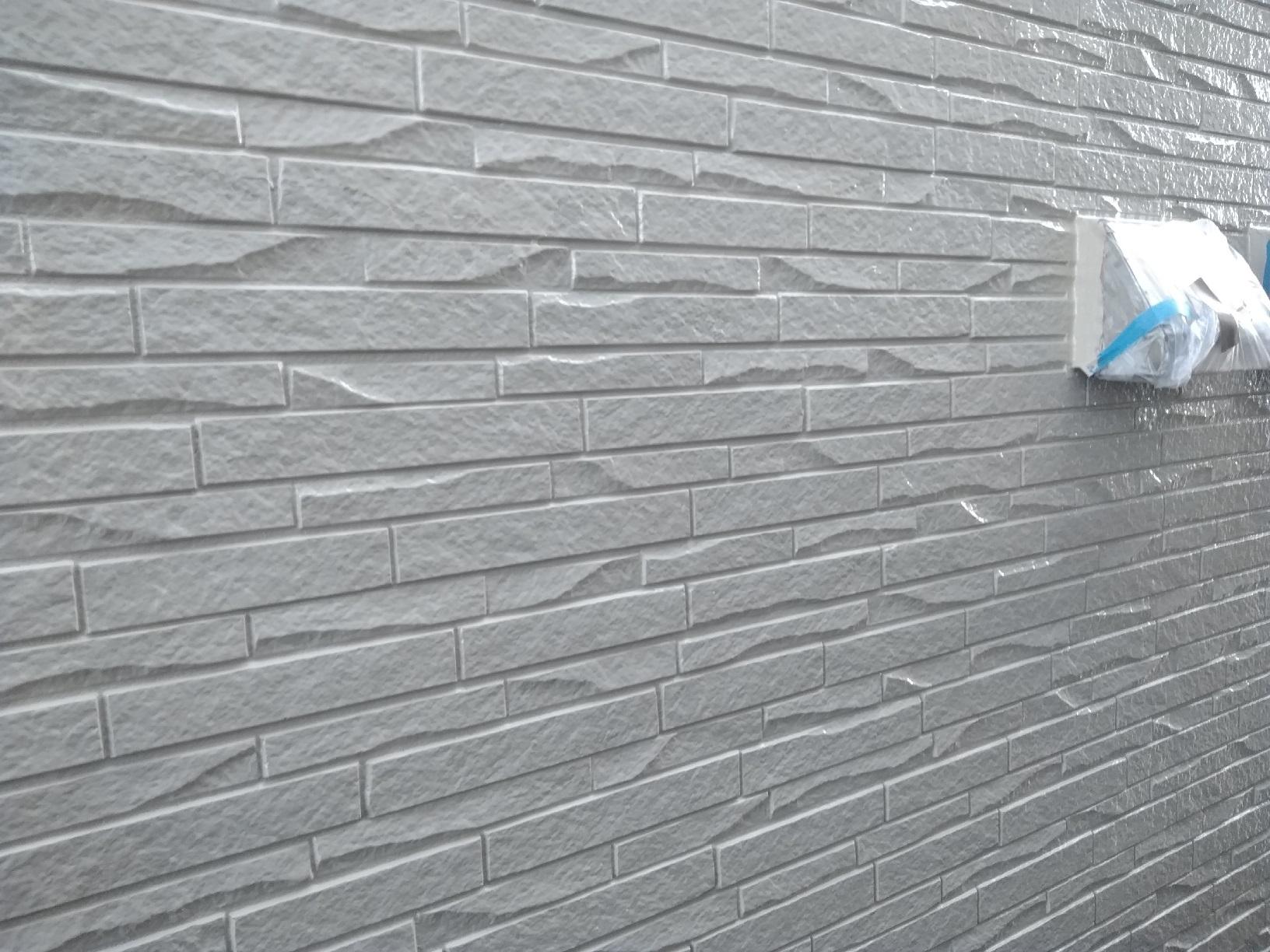 武藤塗装応援 米町 外壁上塗り1