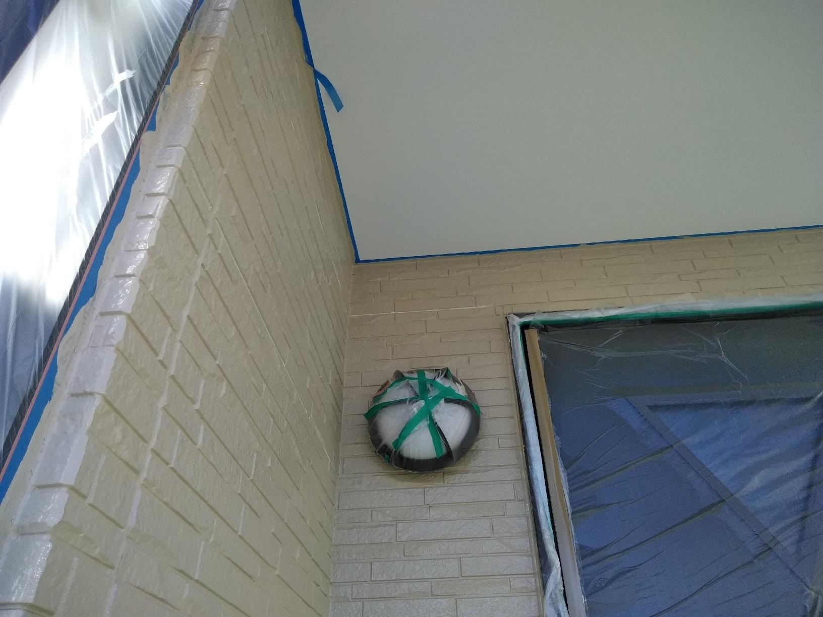 武藤塗装応援 米町 外壁上塗り4