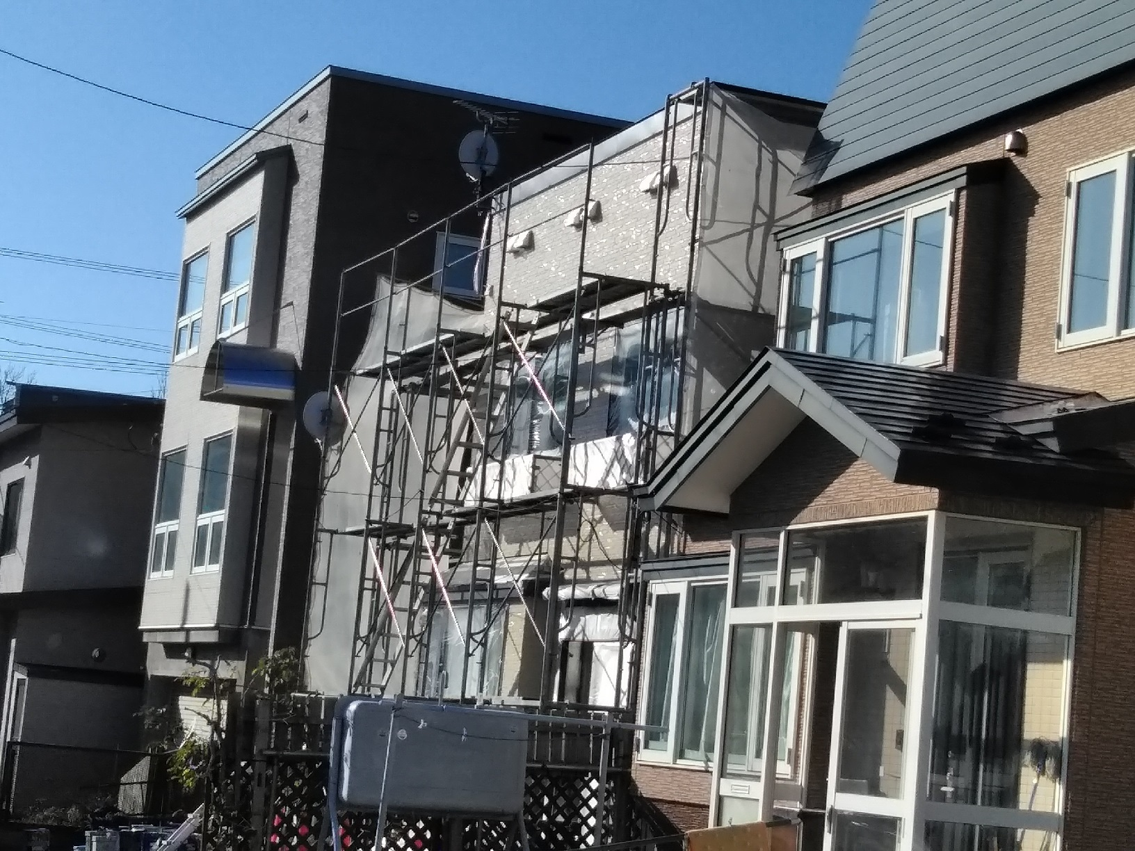 武藤塗装応援 米町 外壁上塗り5