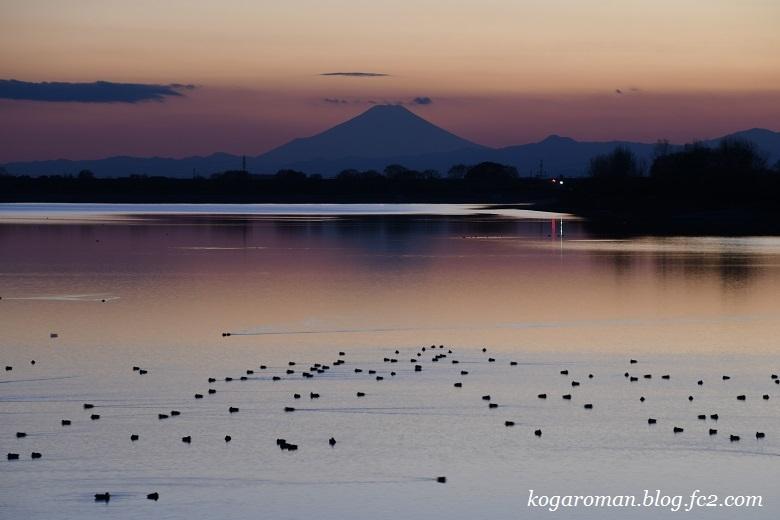 谷中湖からの富士山