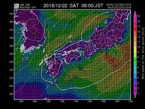 22日風予報