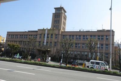 大牟田市庁舎。全景