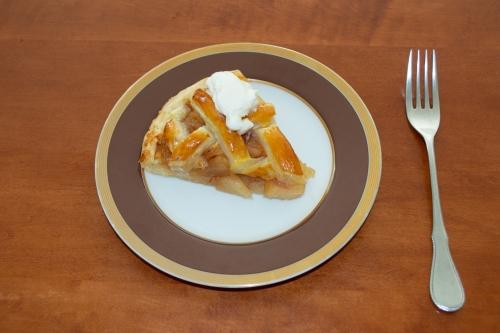 焼きたてアップルパイの大内山ソフトクリームのせ