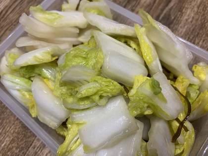 白菜と大根の浅漬け