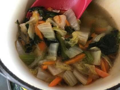 鶏胸肉と白菜のスープ