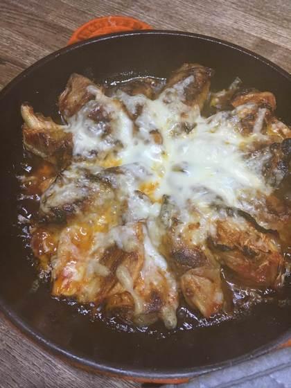 キムチ肉巻きチーズ焼き