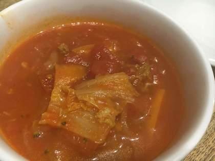 リメイクしたトマトスープ