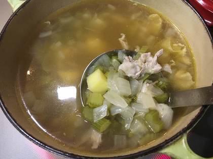 セロリたっぷりスープ