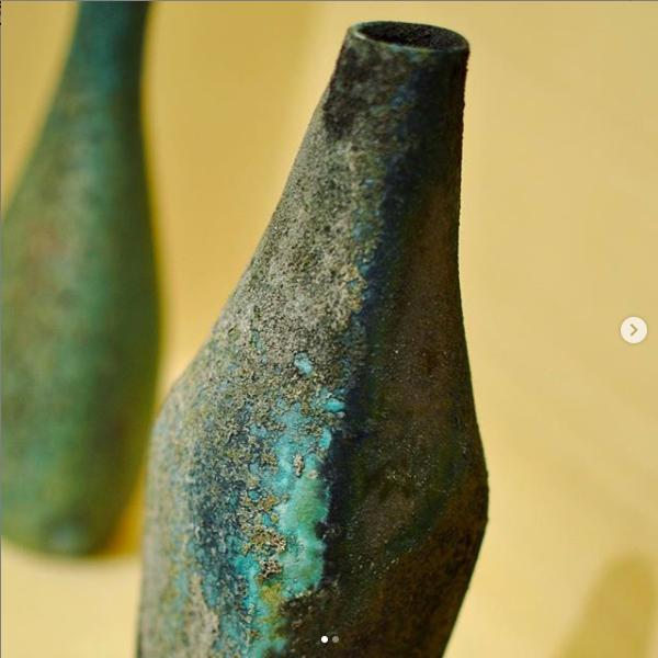 野口悦士/緑青 角瓶