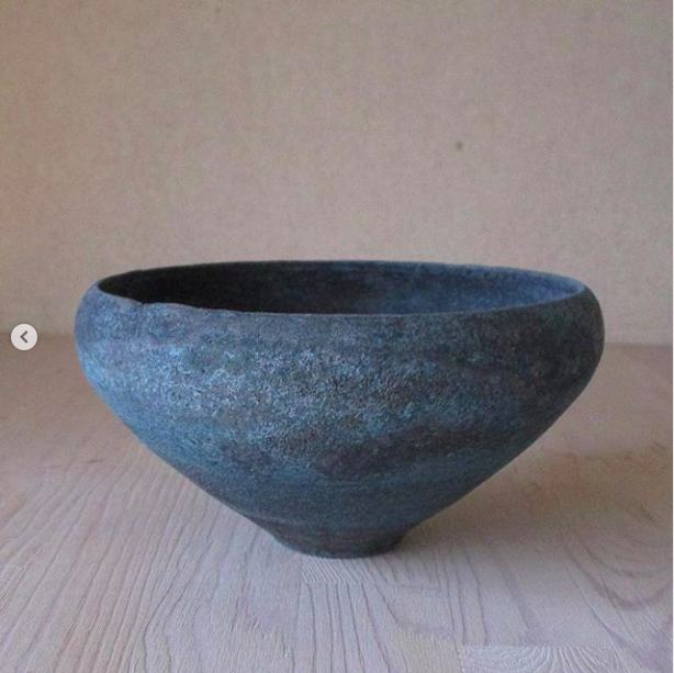 野口悦士/緑青 鉢2