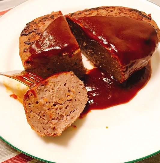 堺一馬特製豚肉抜きハンバーグ14