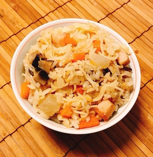 角切り具材のラーメン炊き込みご飯10