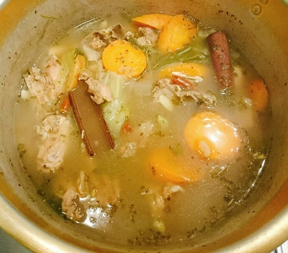 鳥天茶漬け風透明スープカレー7