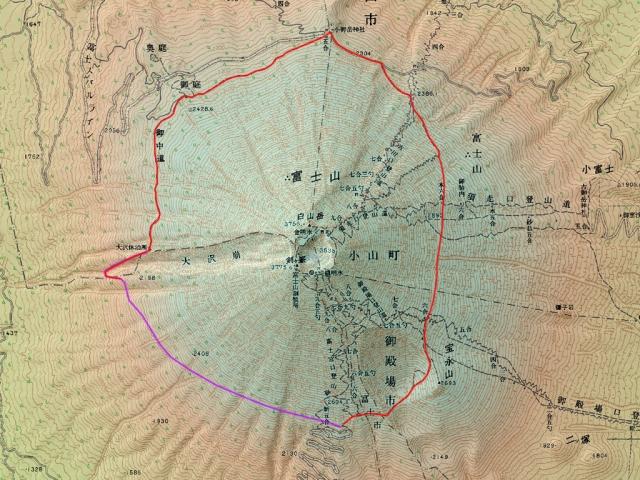富士山御中道地図