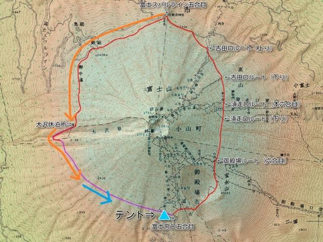 お中道⑥ 地図