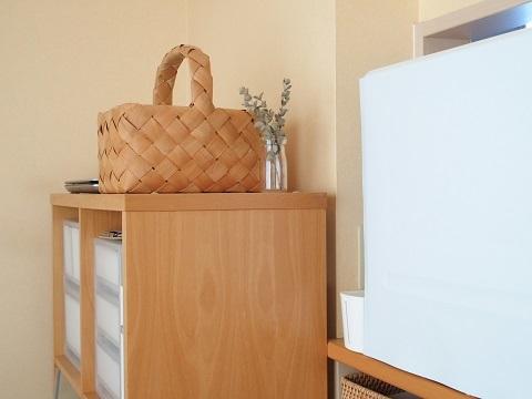 キッチンカウンターの上に食洗機