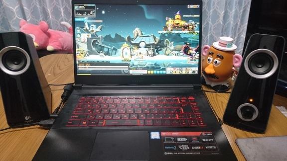 新PCの様子