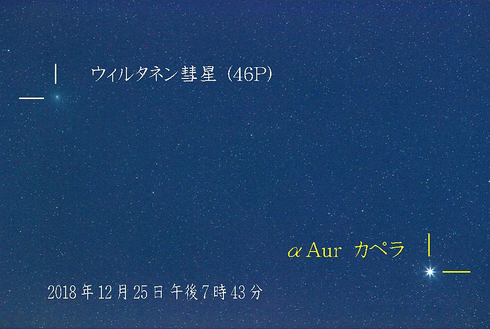 カペラとウイルタネン彗星