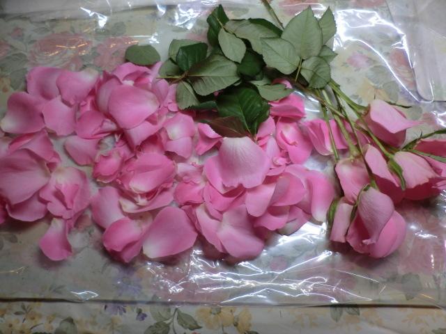 薔薇の押し花押し♪