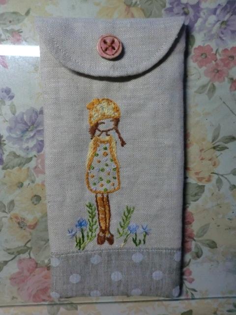 野々花のペンケース♪刺繍編