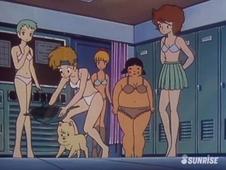 超力ロボガラット パティ・パンプキンとエクレアとカチュアの女子更衣室での着替えシーン下着姿ブラパンツ10