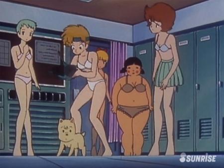 超力ロボガラット パティ・パンプキンとエクレアとカチュアの女子更衣室での着替えシーン下着姿ブラパンツ11