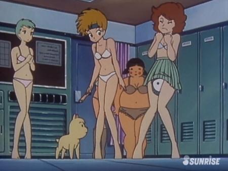 超力ロボガラット パティ・パンプキンとエクレアとカチュアの女子更衣室での着替えシーン下着姿セミヌードのブラパンツ17