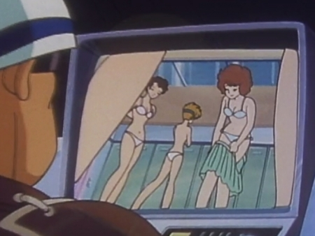 超力ロボガラット パティ・パンプキンの女子更衣室での着替えシーン下着姿ブラパンツ1
