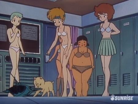 超力ロボガラット パティ・パンプキンとエクレアとカチュアの女子更衣室での着替えシーン下着姿ブラパンツ5