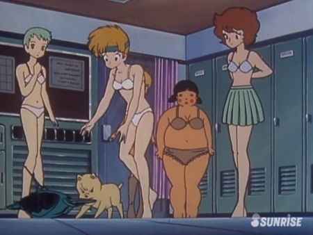 超力ロボガラット パティ・パンプキンとエクレアとカチュアの女子更衣室での着替えシーン下着姿ブラパンツ6