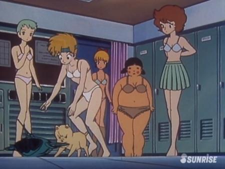 超力ロボガラット パティ・パンプキンとエクレアとカチュアの女子更衣室での着替えシーン下着姿ブラパンツ7