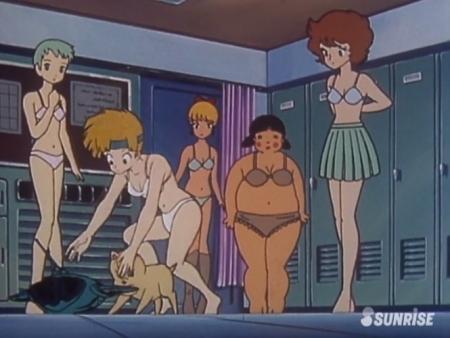 超力ロボガラット パティ・パンプキンとエクレアとカチュアの女子更衣室での着替えシーン下着姿ブラパンツ8