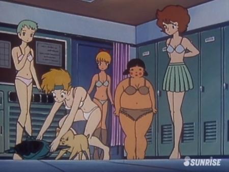 超力ロボガラット パティ・パンプキンとエクレアとカチュアの女子更衣室での着替えシーン下着姿ブラパンツ9