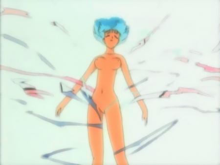 勇者王ガオガイガーFINAL予告 パピヨン・ノワールの服が破れるシーン全裸乳首79