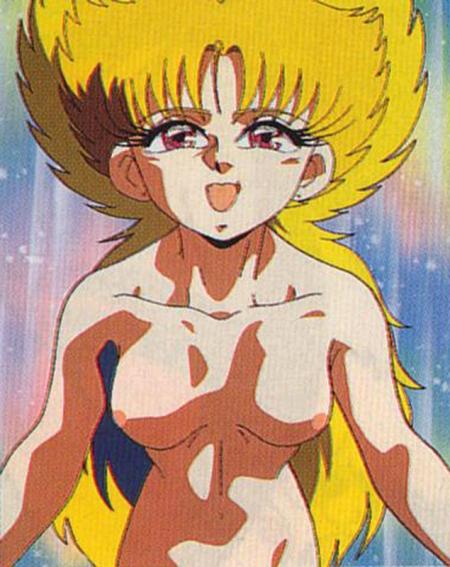 スーパービックリマン最終回の原画 アムルの全裸ヌード乳首1