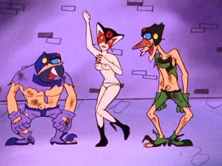 ヤッターマン1977 ドロンジョの胸裸ヌード乳首パンツ150