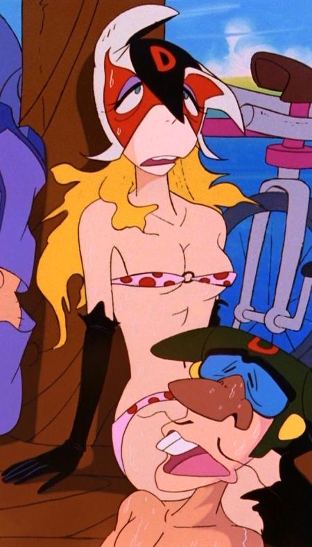 ヤッターマン1977 ドロンジョの胸裸ヌード下着姿ブラパンツ152