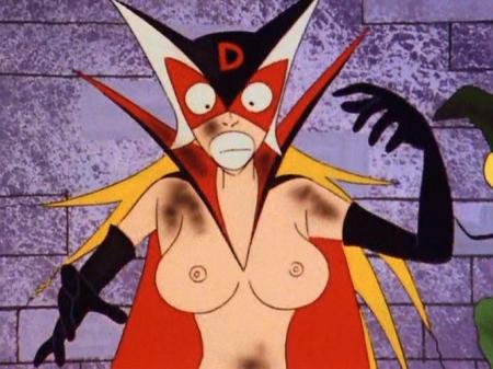 ヤッターマン1977 ドロンジョの胸裸ヌード乳首170