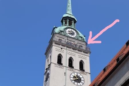 ミュンヘンの展望台(聖ぺーター教会)2