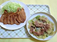 CAI_181105_5315 豚肉の生姜焼き・キャベツと豚肉のコンソメ煮_VGA