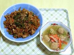 CAI_181112_5320 そば飯・鶏団子の中華風スープ_VGA