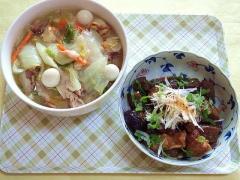 CAI_181122_5331 ウズラと帆立の八宝菜・茄子と蒟蒻の甘辛炒め_VGA