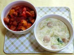 CAI_181126_5333 鶏モモ肉と野菜のトマト煮・白菜と鶏団子のクリーム煮_VGA